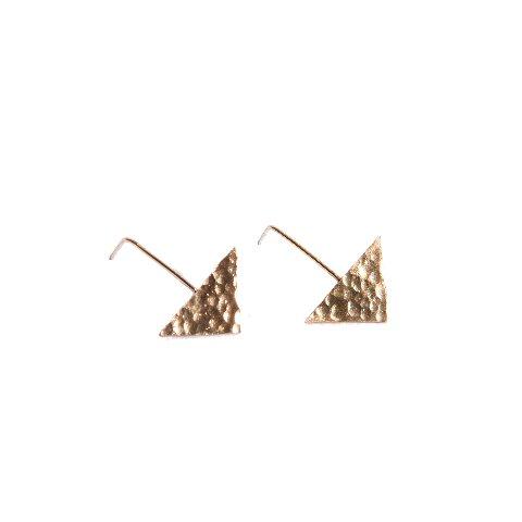 """The moon"" II gold plated earrings"