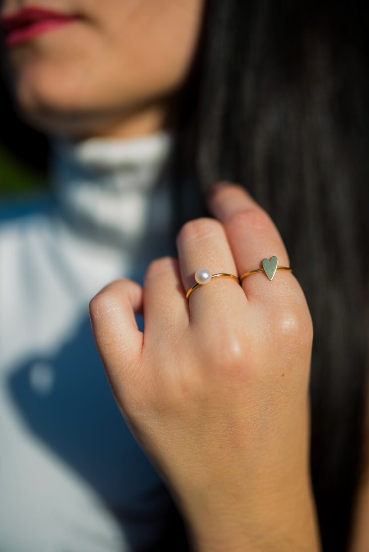 Μαργαριτάρι στο χέρι gold