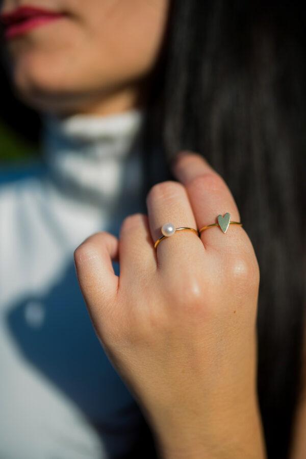 Αγάπη II gold plated ring