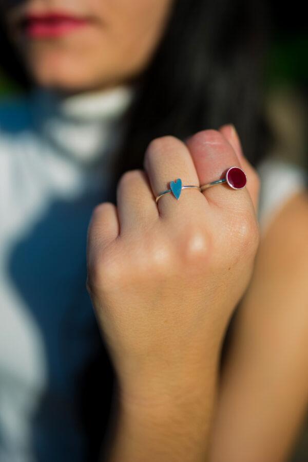 Αγάπη II silver ring