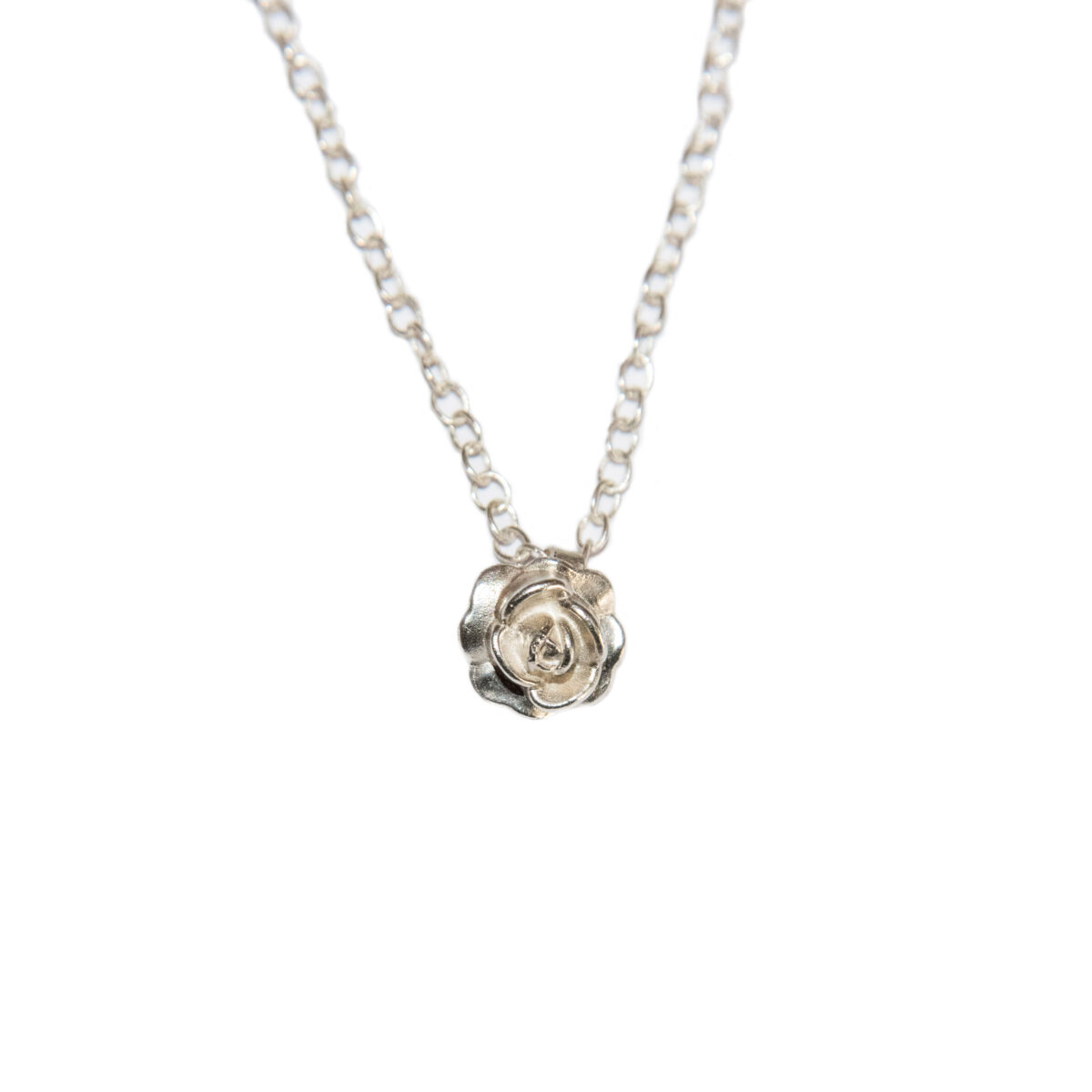 Rose on your neck II silver
