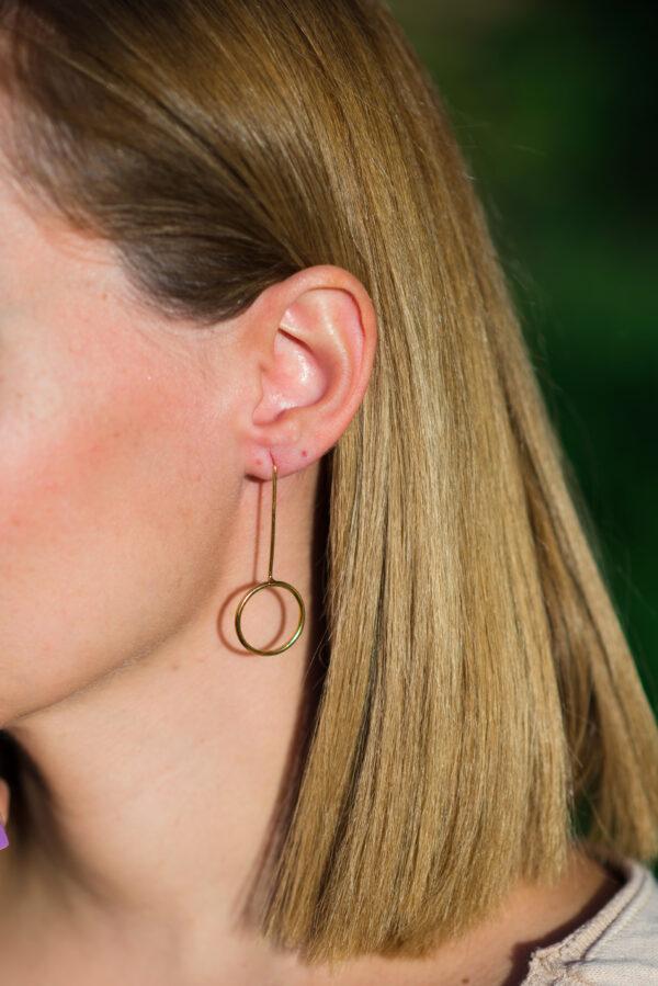 """Sun"" II gold plated earrings"
