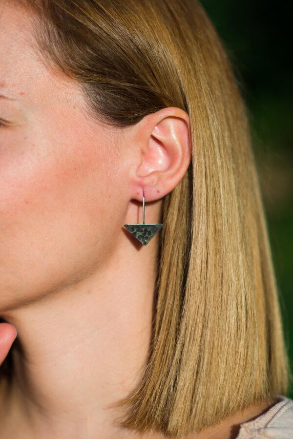 """The moon"" II earrings"