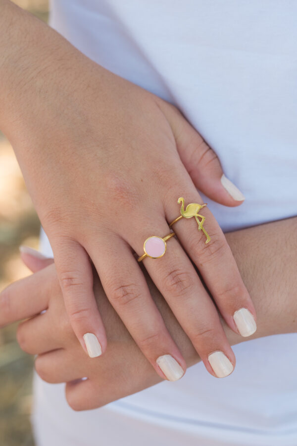 """""""Candy"""" ring II gold plated silver"""