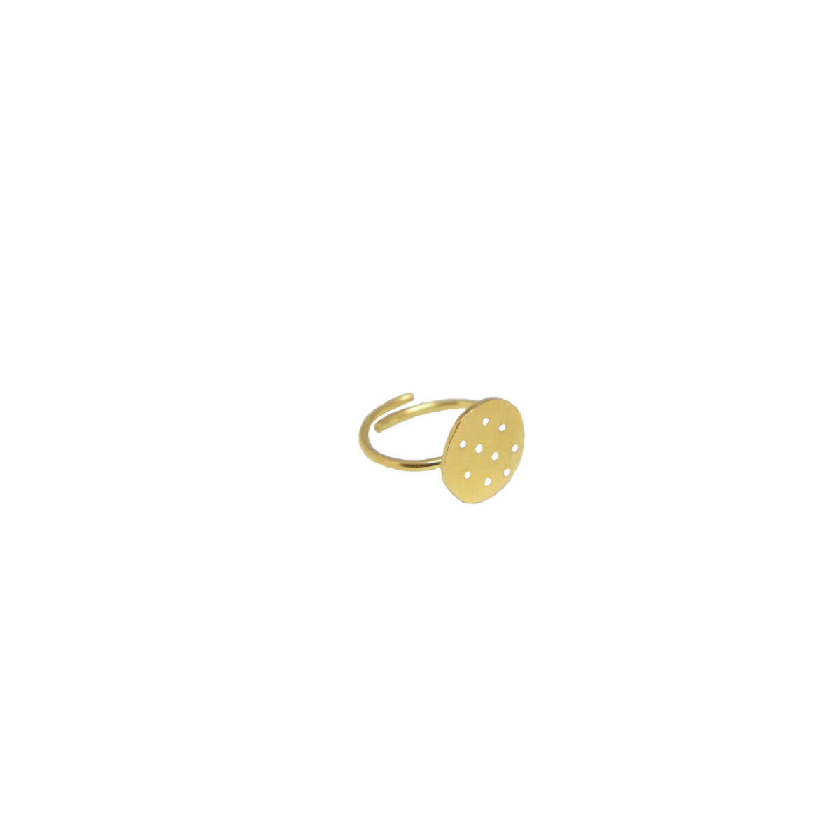 Polka dot II gold plated ring