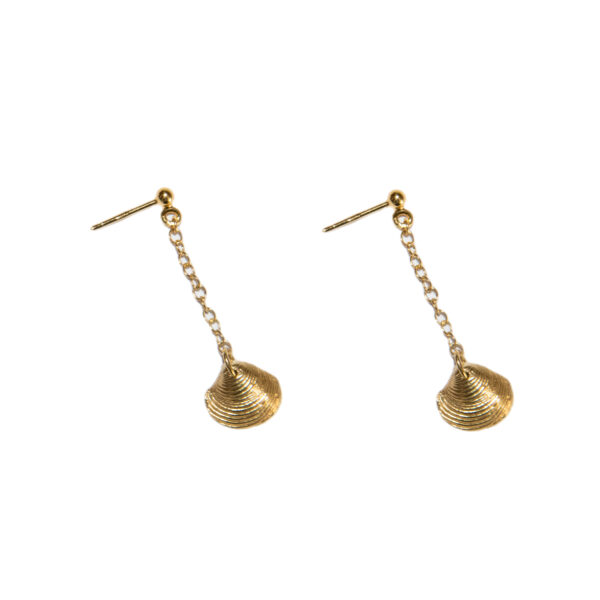 Ocean treasure II gold plated earrings (clam)