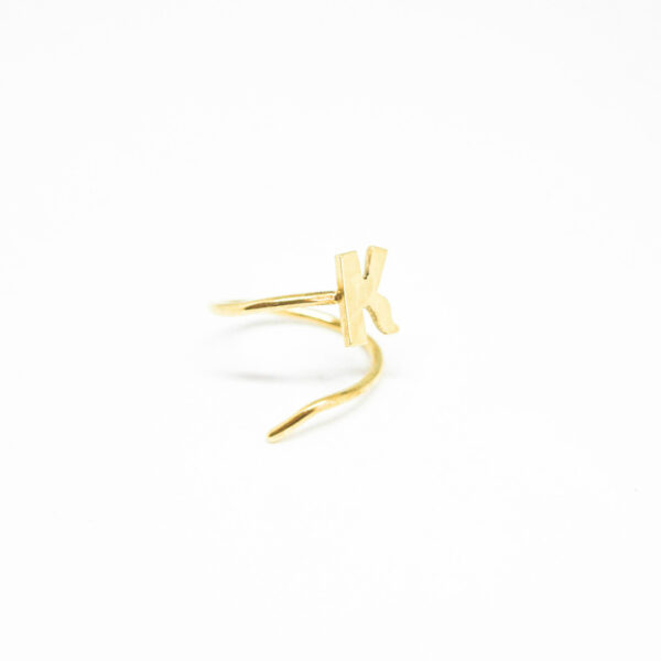 """""""Dream on"""" II gold plated ring"""