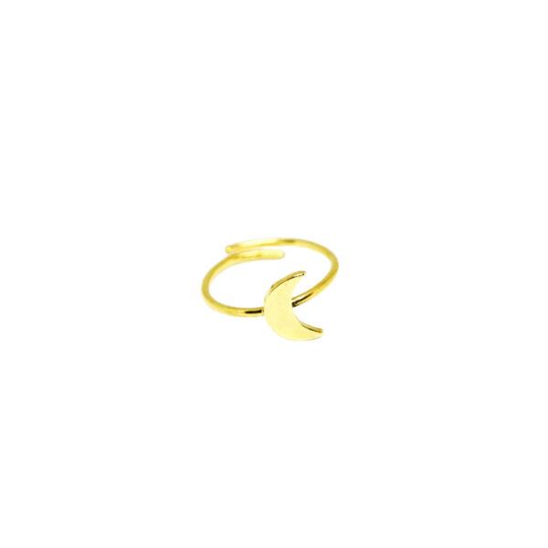 """""""La Luna"""" ring II gold plated"""