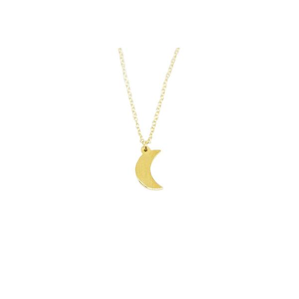 La Luna II gold plated necklace