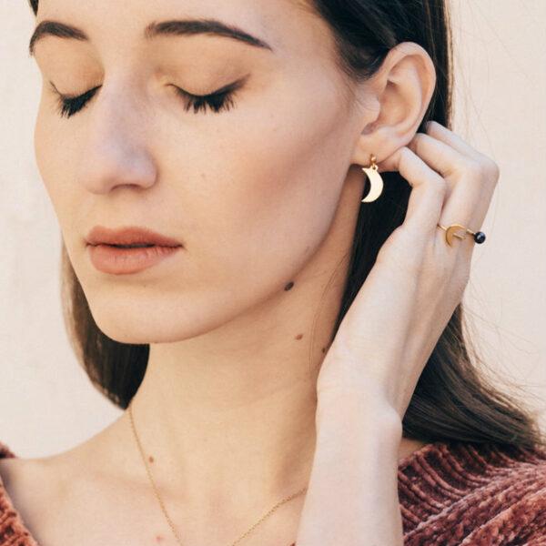 """""""La Luna"""" earrings II gold plated"""