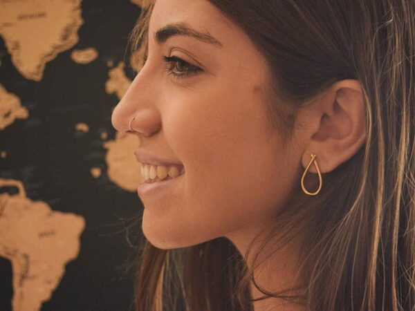"""Bella"" earrings II gold plated"