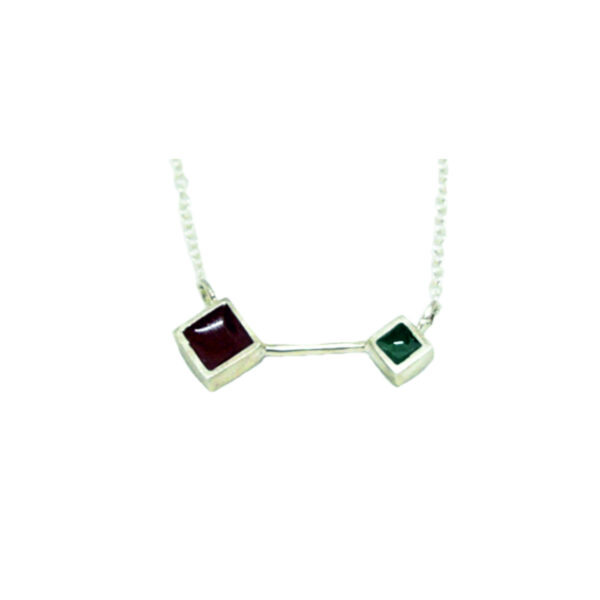 Colors & Shapes II silver necklace