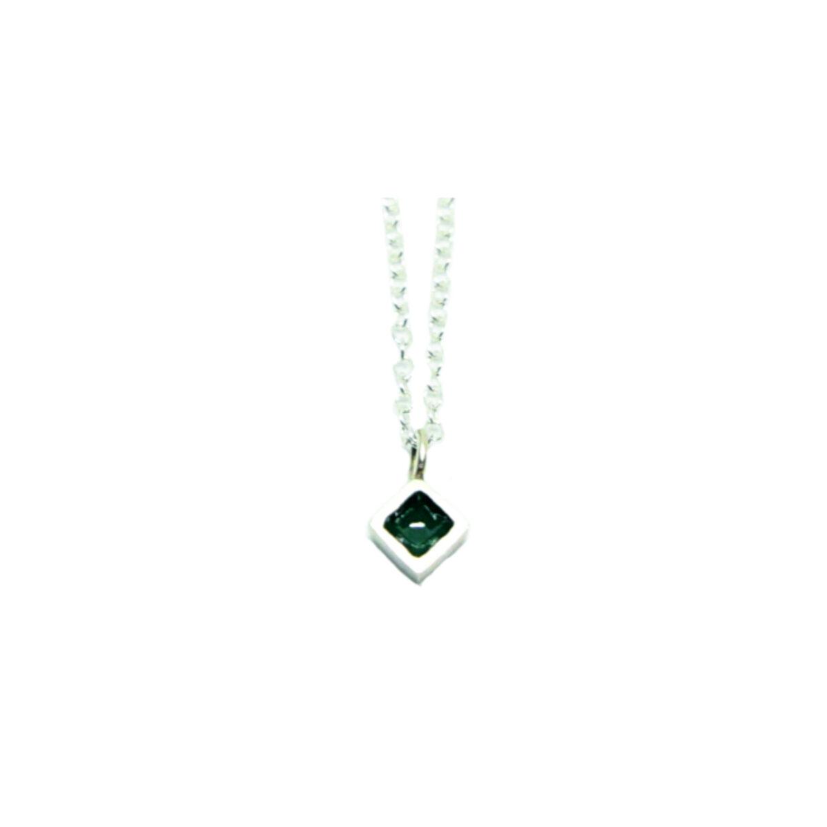 Diamond II silver necklace