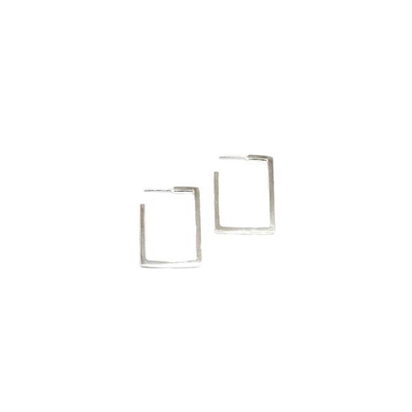 Geometry earrings R II gold plated