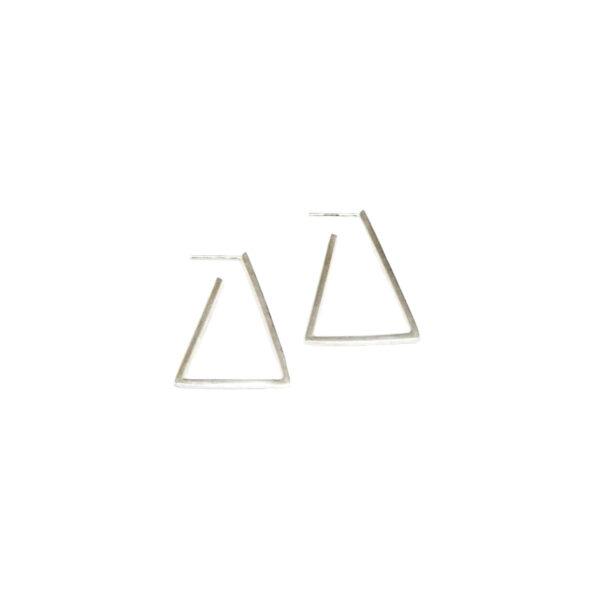 Geometry earrings O II gold plated