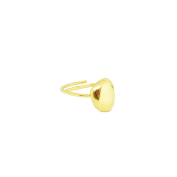 Droplet ring II gold plated