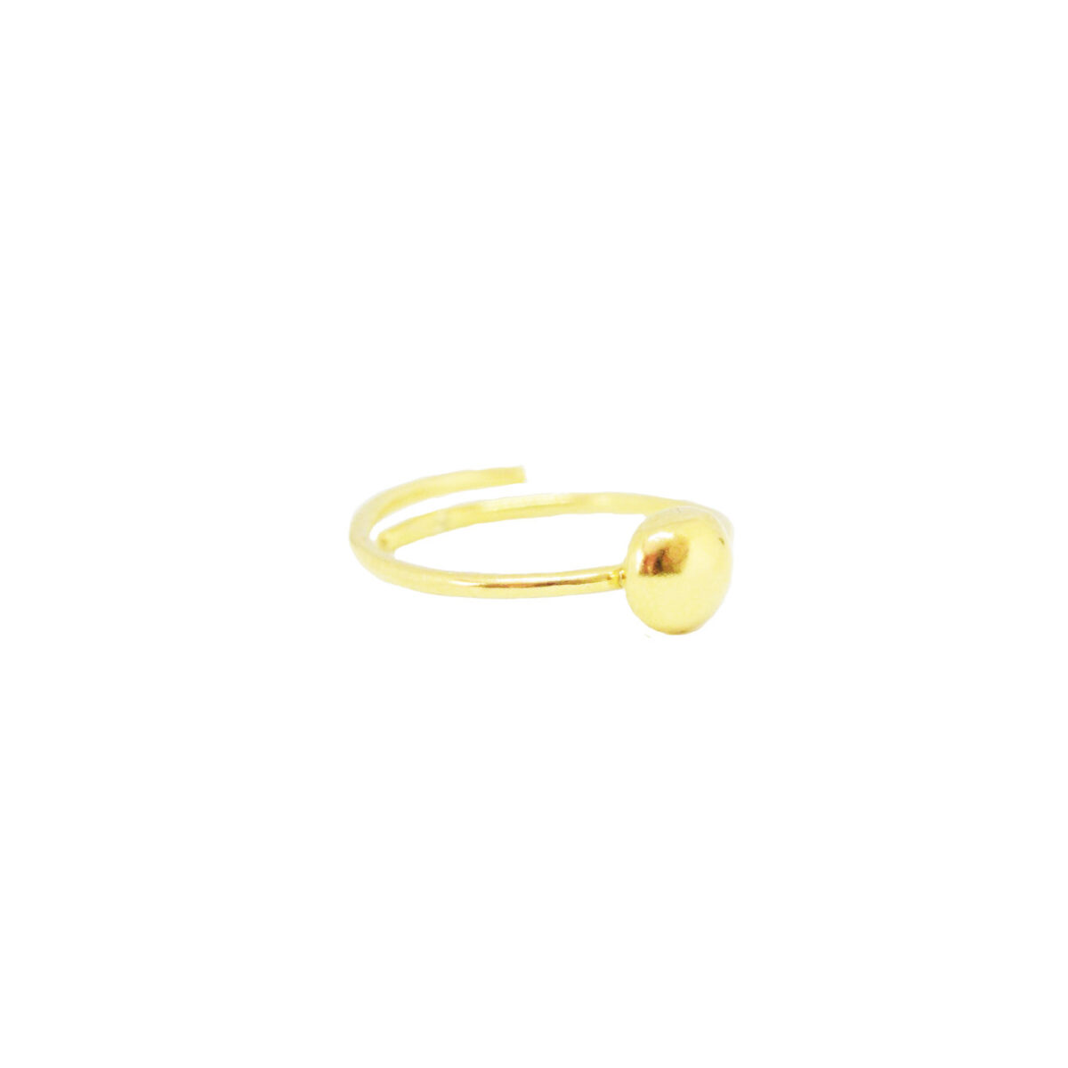 Mini Droplet ring II gold plated
