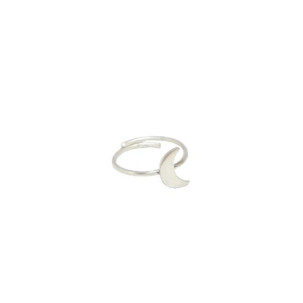"""La Luna"" ring II silver"