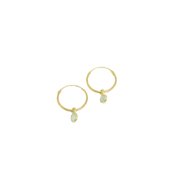 """La Luna"" earrings mini II gold plated"