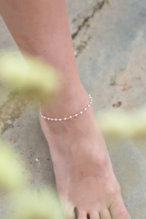 """Pearl"" bracelet / anklet II silver"