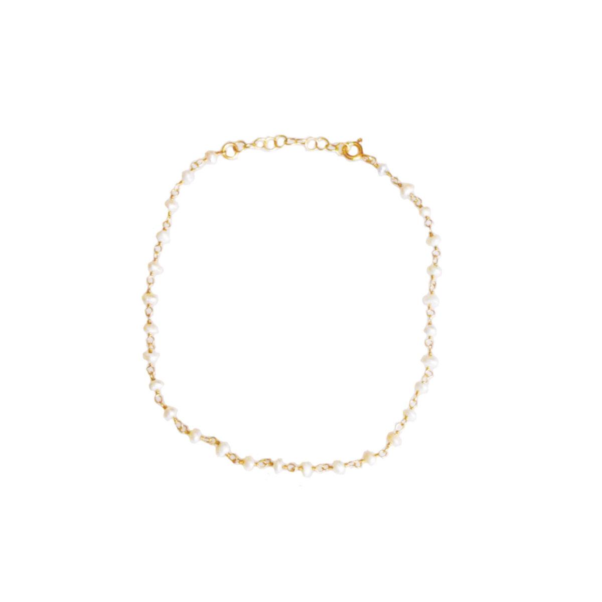 """Pearl"" bracelet / anklet II gold plated"