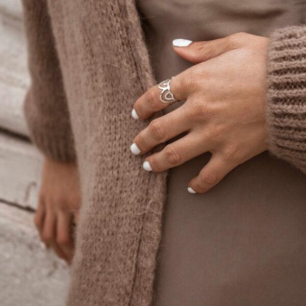 Cupola ring II silver