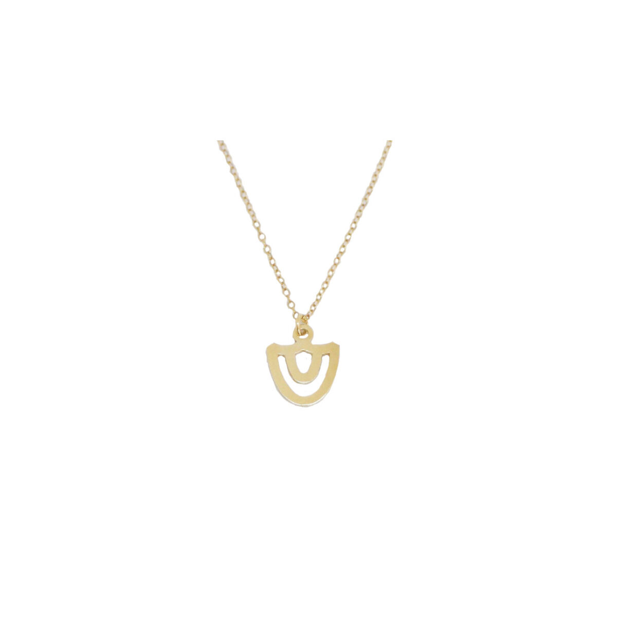 Tholos necklace II gold plated
