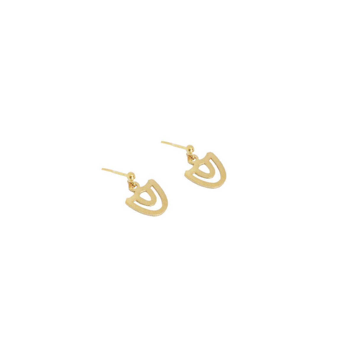 Tholos earrings II gold plated