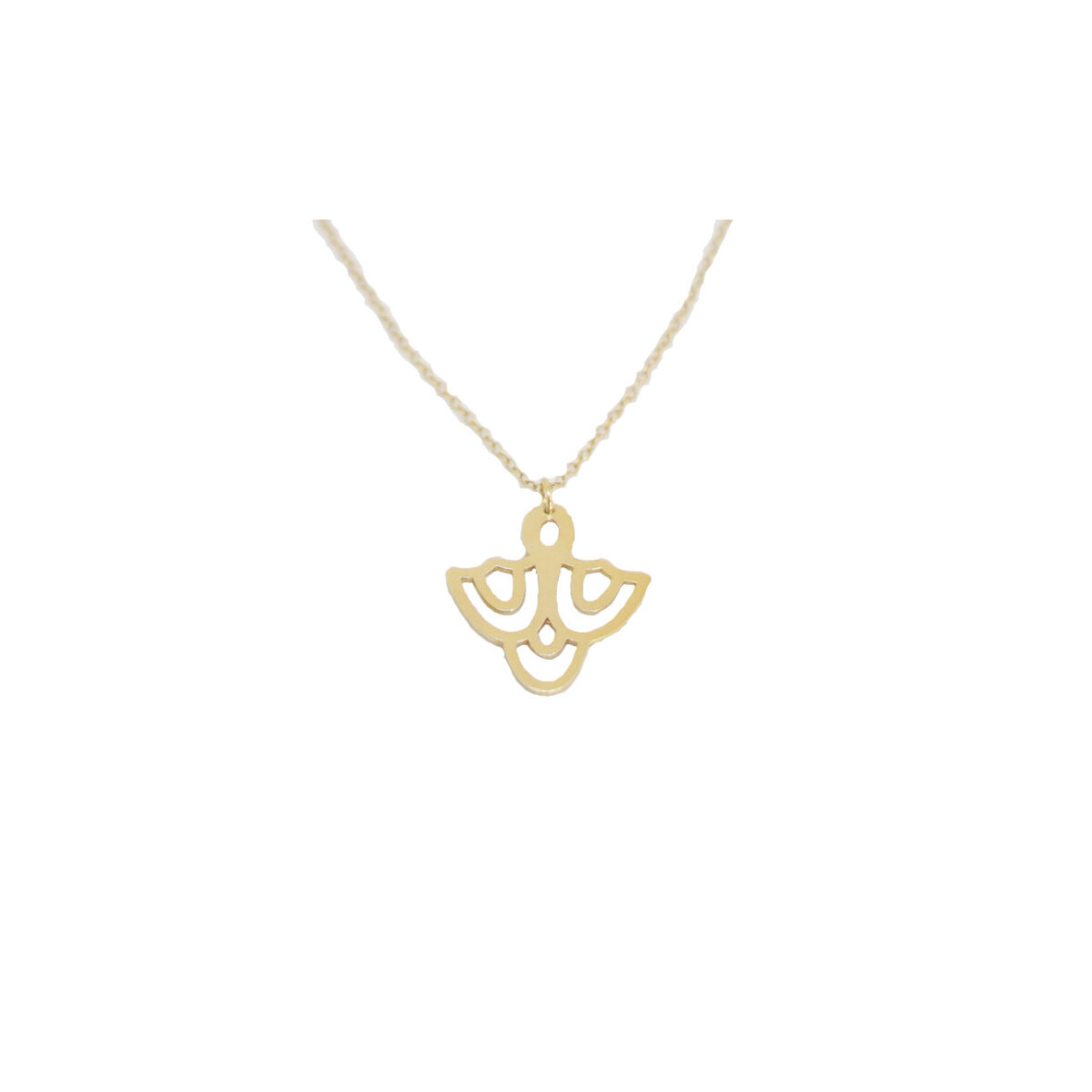 Cupola II gold plated necklace