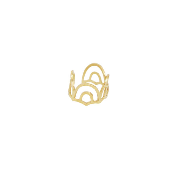 Cupola ring II gold plated
