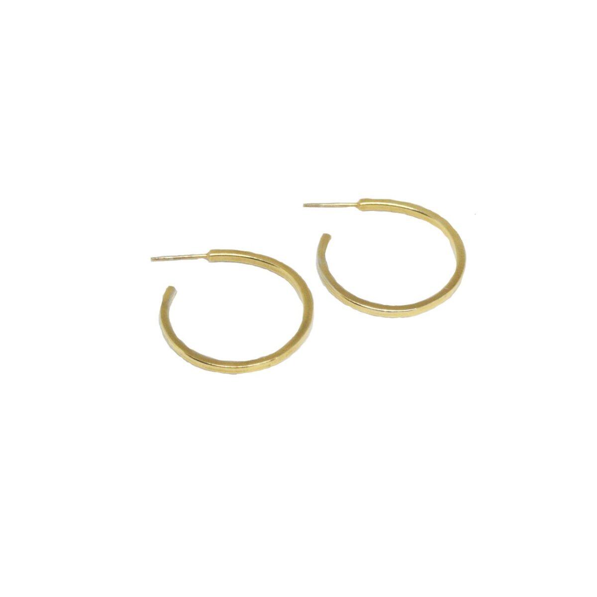 Geometry earrings C II gold plated