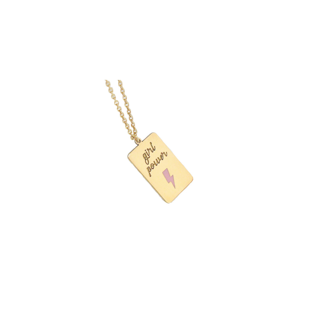 Girl Power II gold plated necklace