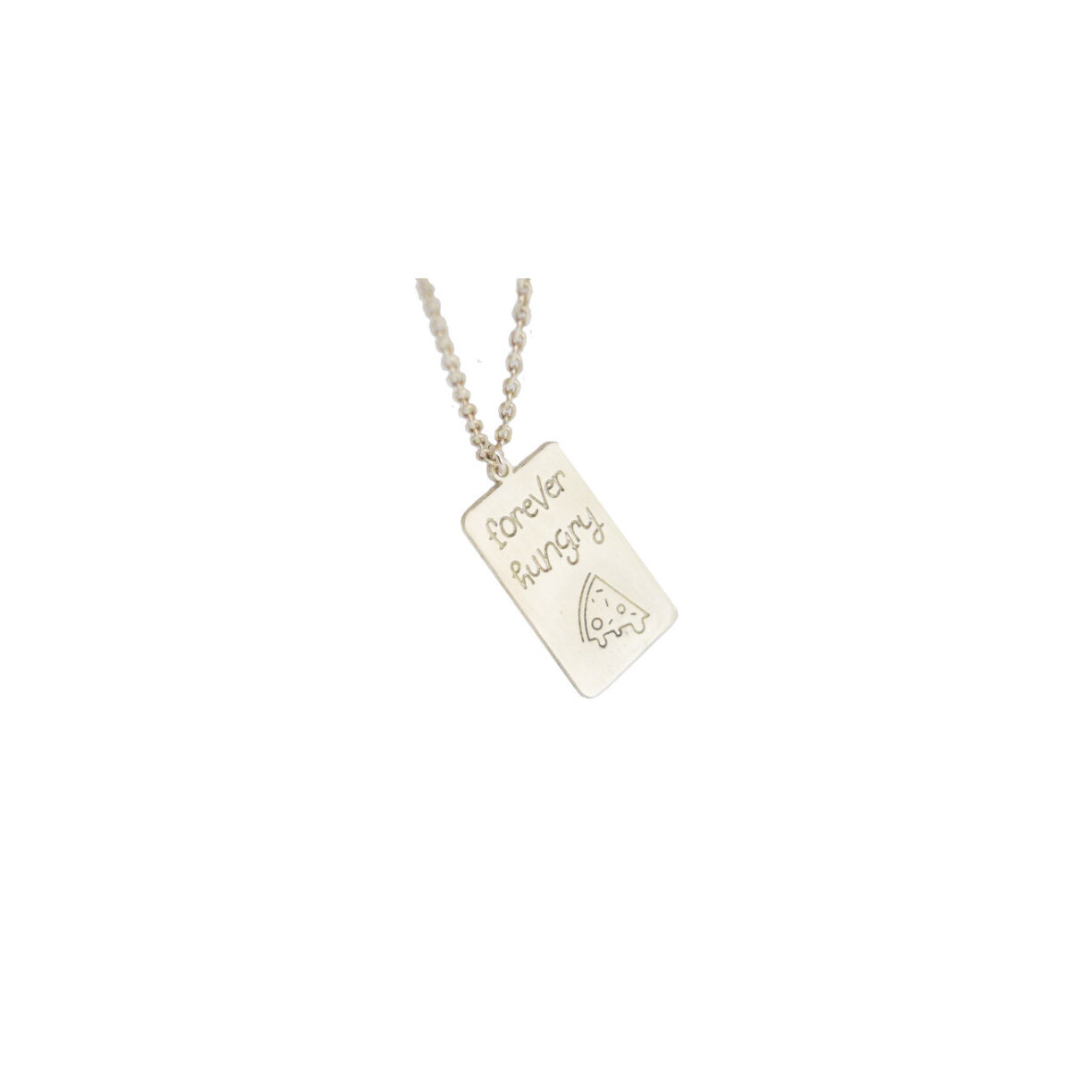 Forever Hungry II  silver necklace