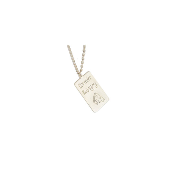 Forever Hungry II gold plated necklace