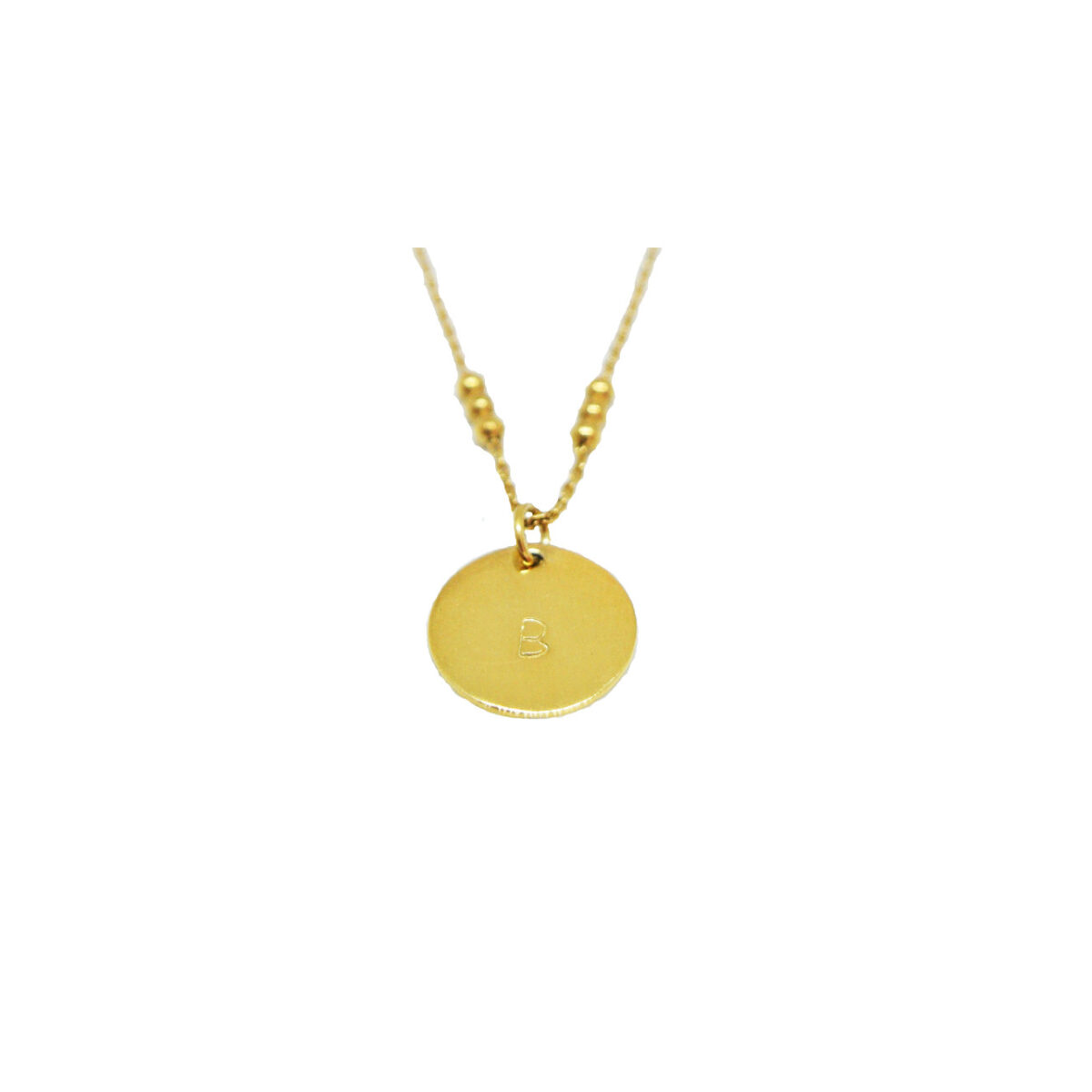 Tell me your initial II gold plated necklace