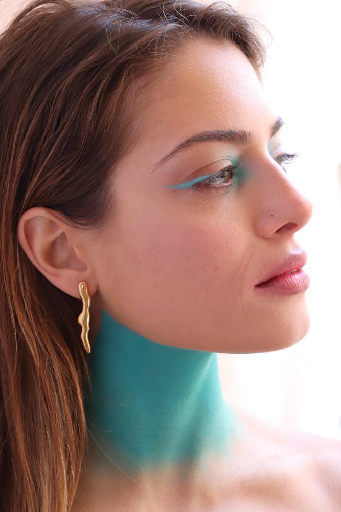 Flow earrings II gold plated