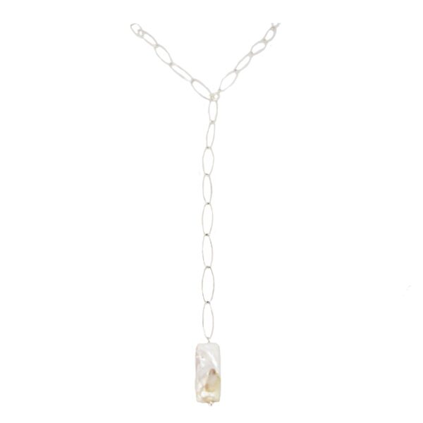 Iris necklace II gold plated