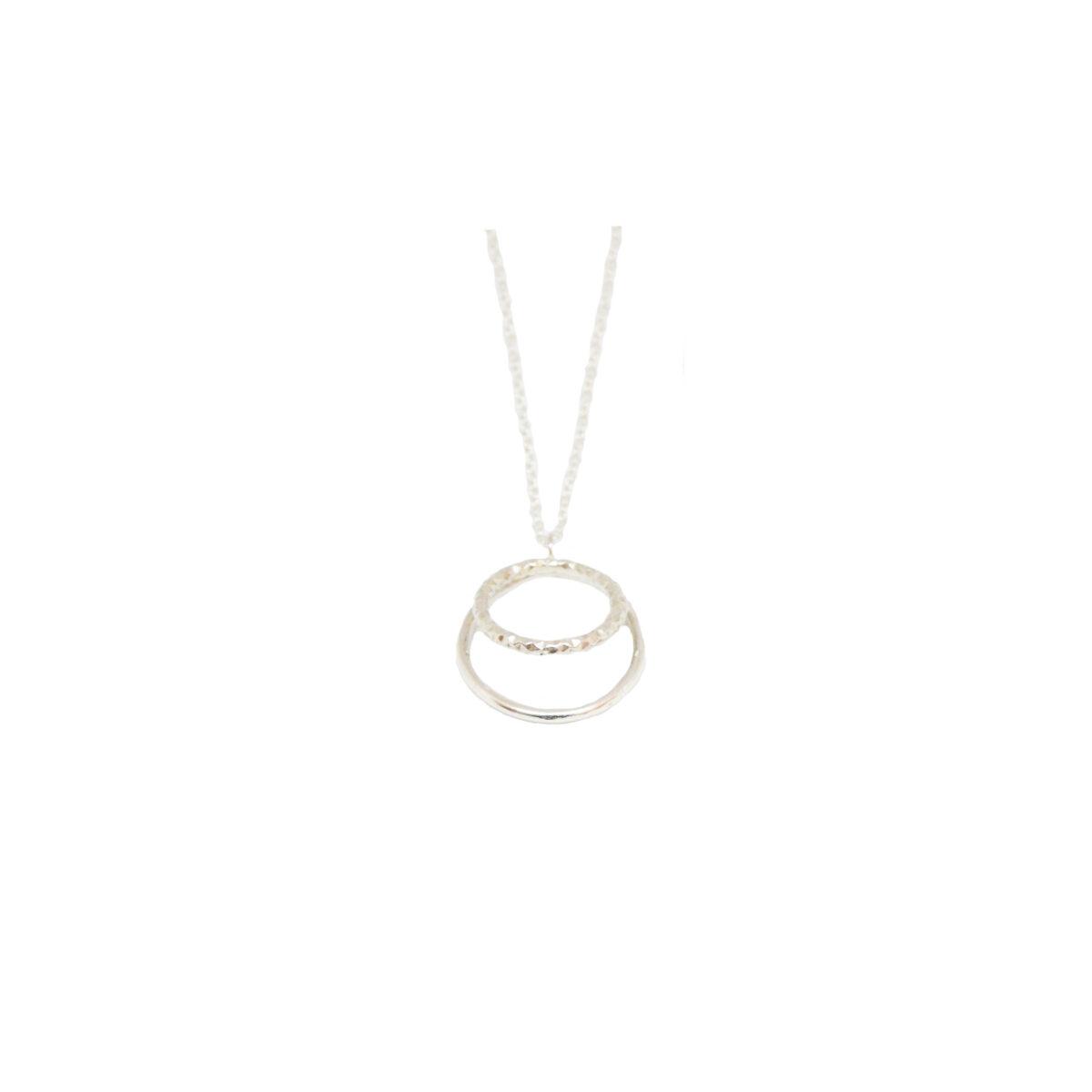 Duo necklace II silver