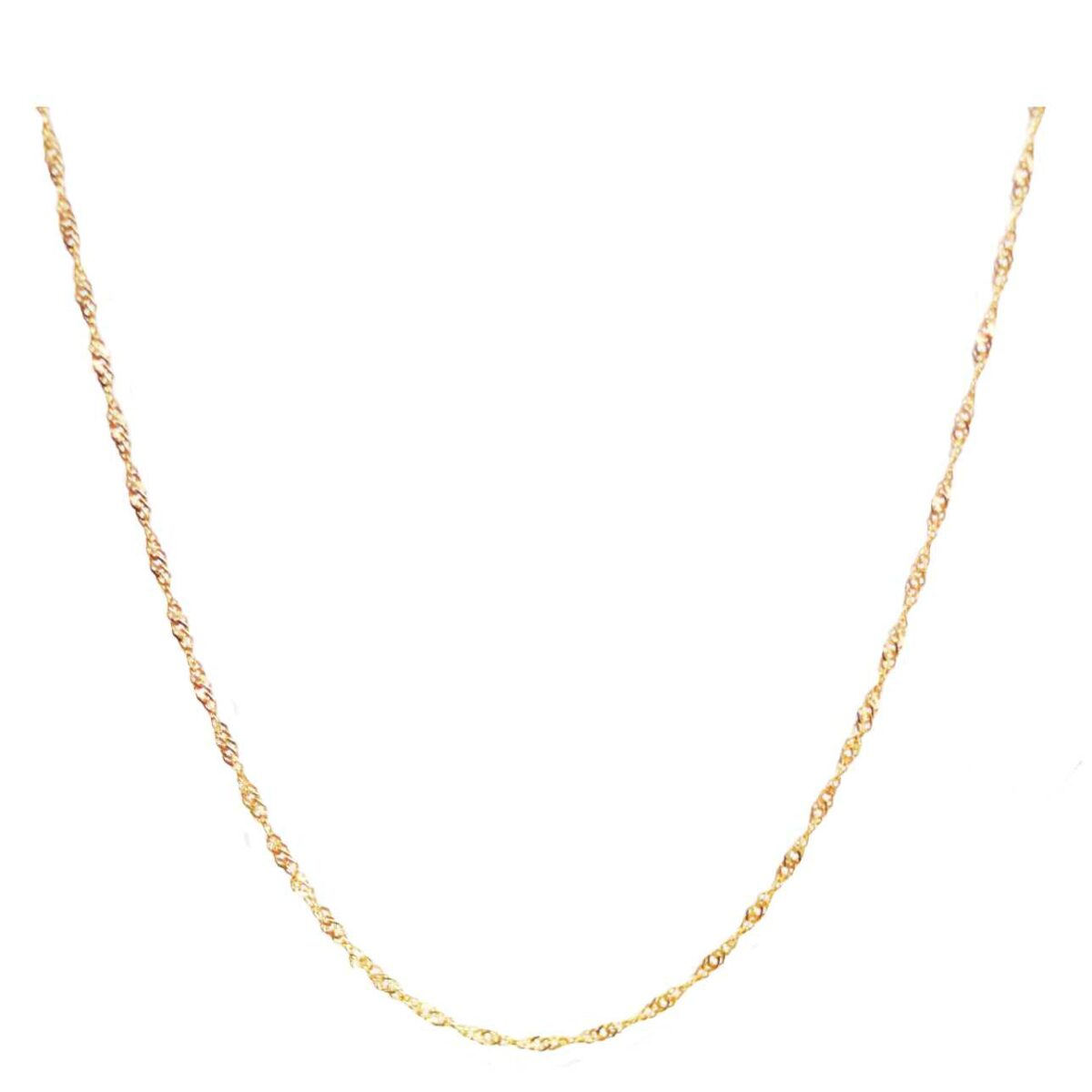 Twist me chain II gold plated