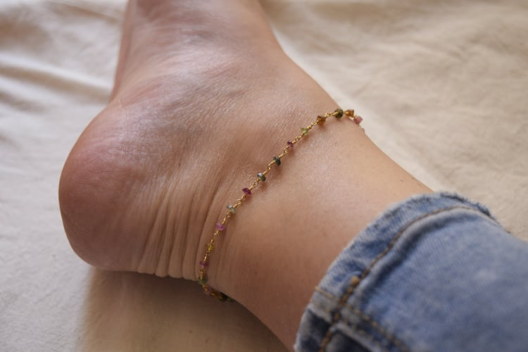 """Pastel Rainbow"" anklet"