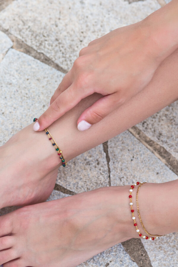 Bubble anklet II gold plated