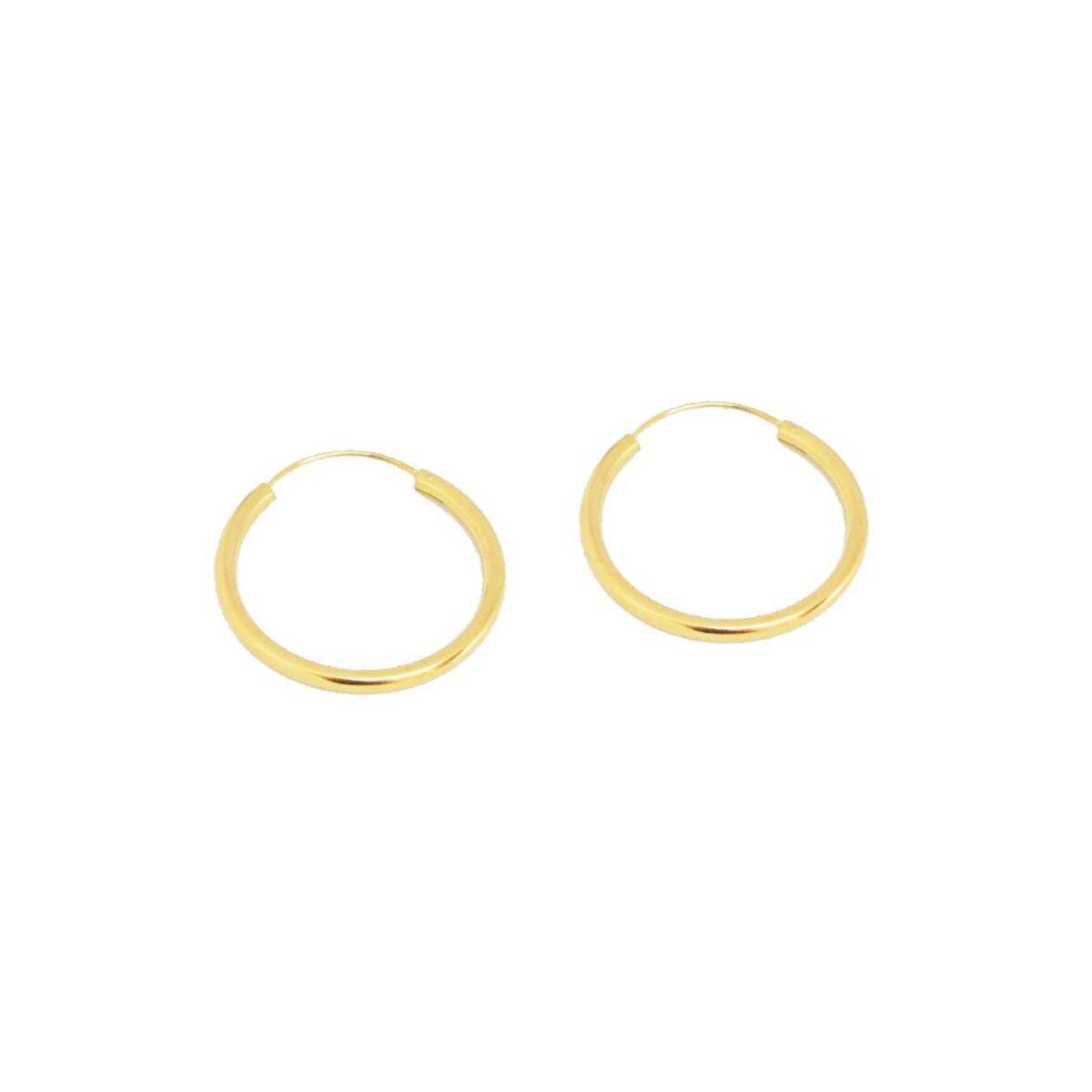 """Layla"" hoops Large II gold plated"