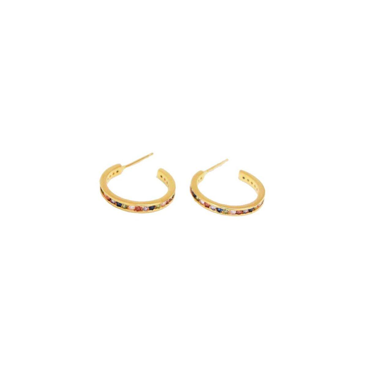 """Silia"" hoops II gold plated"