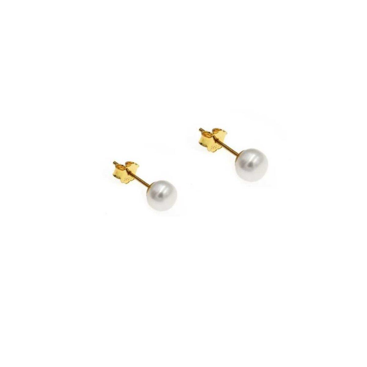 Pearl earrings II gold plated