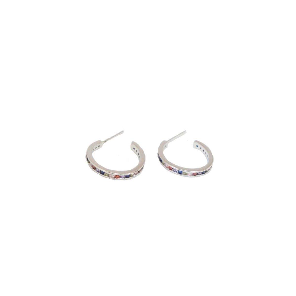 """Silia"" hoops II silver"