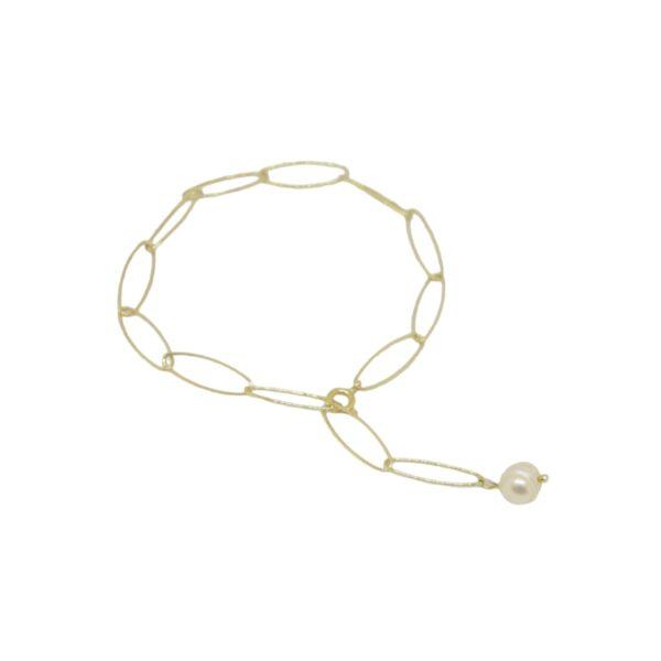 """Iris"" bracelet / anklet II gold plated"
