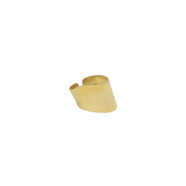 Wave  II gold plated ring
