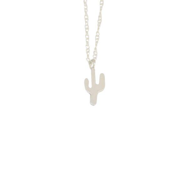 Cactus II  silver necklace