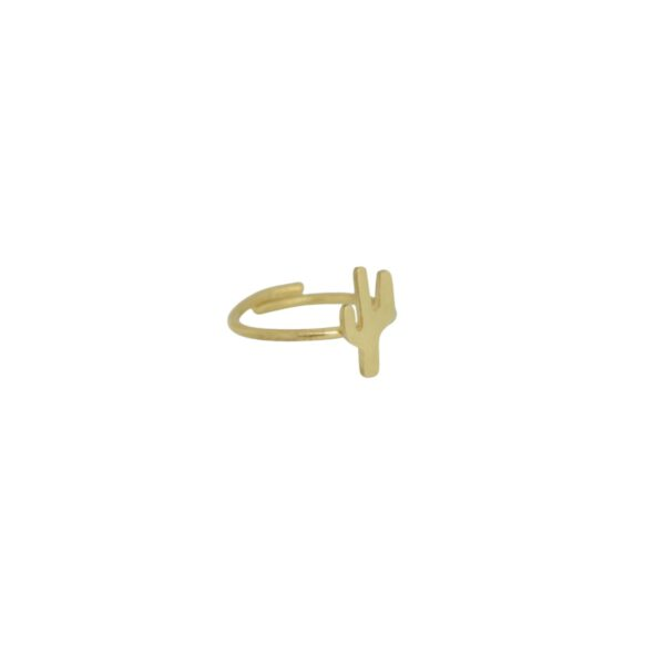 Cactus  II gold plated ring