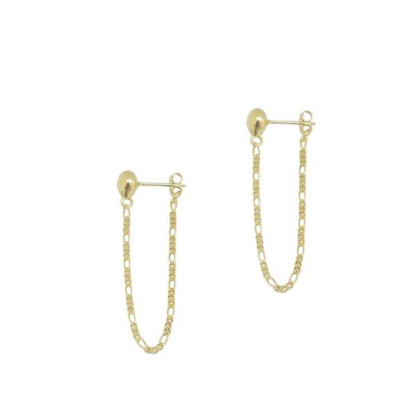 Enosis II gold plated earrings